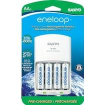 Eneloop Aa Con 4 Posición Cargador, 1.800 Ciclo, Baterías Re