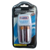 Cargador De Baterías Para Aa, Aaa Y 9v Incluye 2 Baterias Aa