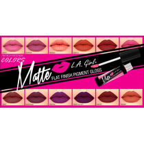 L.a. Girl Gloss Mate Labial Indeleble Mayoreo 20 Pzs