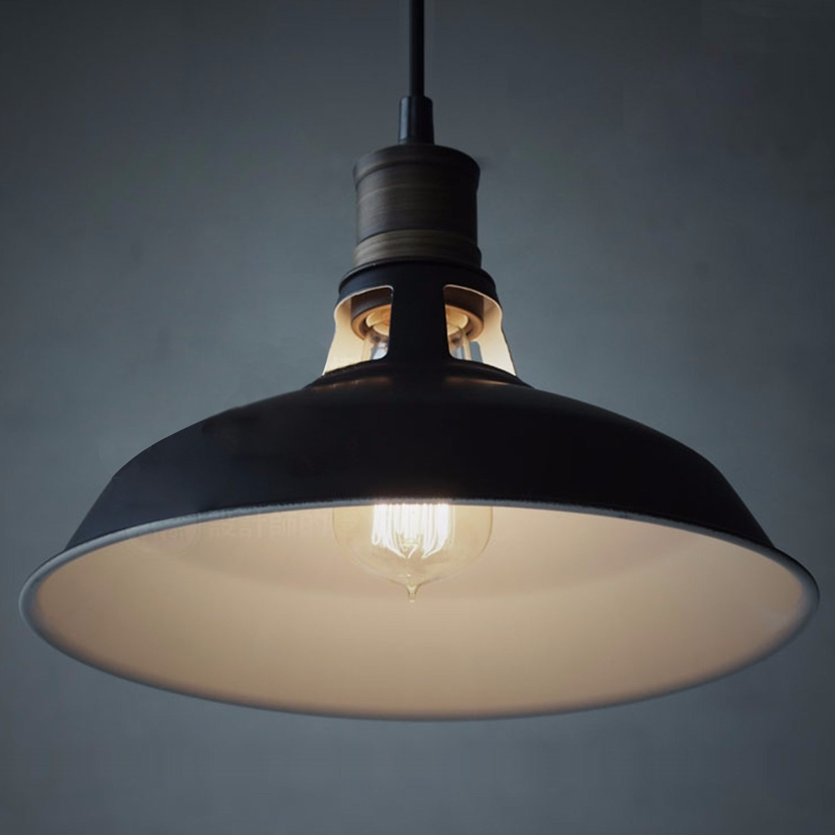 Lampara colgante vintage industrial edison retro for Decoracion retro industrial