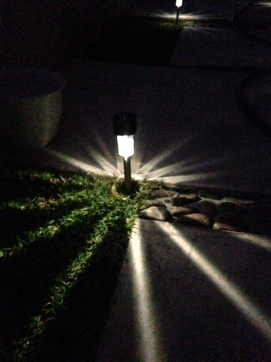 L mpara solar luces luz jard n exterior led en for Luces led jardin ikea