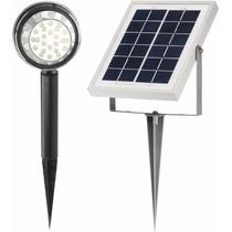Lampara De 24 Leds Solar De Piso P/ Exteriores. Hasta 10hrs