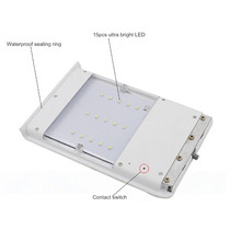 Luminaria 15w Led Solar Recargable Encendido Automatico Stk