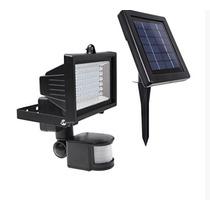 Lámpara Solar De Seguridad 60 Leds Para Exteriores Panel Sol