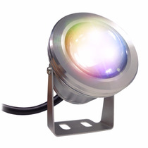 Reflector Led Rgb 12v Para Jardin Sumergible Decoracion