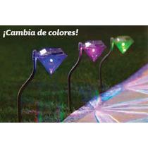 Lámpara Solar Para Jardín Cambia De Color!