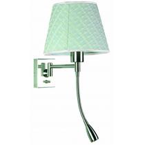 Lámpara Para Pared - Hierro Y Pantalla De Tela - 1 Luz