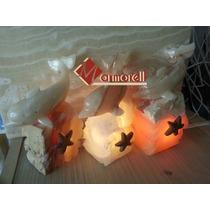 Lámpara De Onix Modelo Delfin En La Roca 20 Cm.