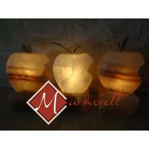 Micro Lamparitas De Onix Modelo Manzana Mordida 10 Cm