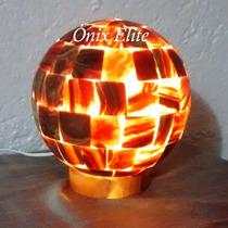 Lamparas De Onix 20 Cms, Esfera Chocolate