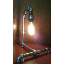 Lámpara De Tubo Estilo Vintage, Incluye Foco Edison 40 Watts