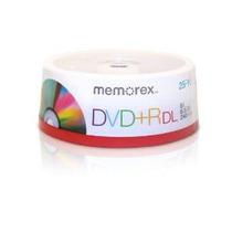 Memorex 8.5gb 8x De Doble Capa Dvd + R 25pk Husillo