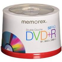 Memorex 8,5 Gb 8 X De Doble Capa Dvd + R - 50 Paquete Husill