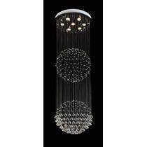 Candil Esferas De Cristal 53cmx1.60cm. Lt