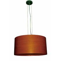 Colgante Madera Altura Ajustable Color Caoba 60cmx1.10m Lt