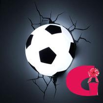 Lampara 3d De Pared Balon Fútbol Led Oferta Sólo Hoy! Mn4