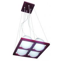 Lámpara Para Techo - Colección Wood 4 Luces - Foco Ahorrador