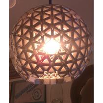 Lampara Colgante Esfera Reciclada De Triángulos Tetrapack