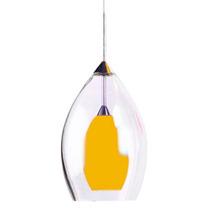 Luminario Decorativo Tipo Copa Techo Acabado Amarillo Illux