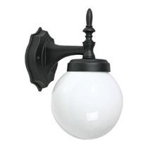 Lámpara De Pared Exterior Con Globo Opalino 6 Cux