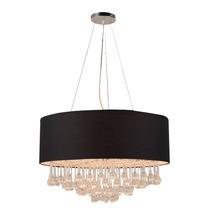 Lámpara Colgante Estilo Moderno Tela Color Negro Cl