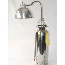 Lámpara Vintage Antiguo Extinguidor Altura Regulable