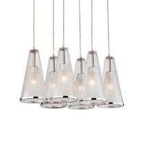 Luminario Decorativo Techo Campana 6 Lamparas Vidrio Illux