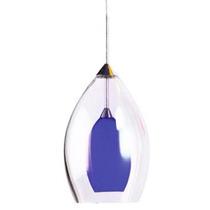 Luminario Decorativo Tipo Copa Techo Acabado Azul Illux