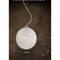 Lampara Colgante Esfera De Cristal 30cm De Diametro. Th