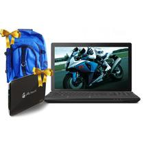 Laptop Toshiba Amd Quad-core 750gb + Dd500gb Ext + Mochila