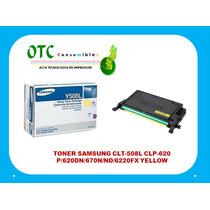 Toner Samsung Cltm-508l P/620dn/670n/nd/6220fx Yellow