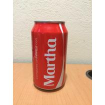 Lata Coca Cola Con Nombre Martha Llena
