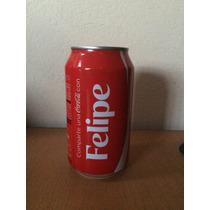 Lata Coca Cola Con Nombre Felipe Llena