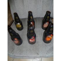 Seis Botellas Cerveza Modelo De Colección Op4