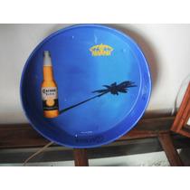 Charola De Coleccion De Cerveza Corona Azul De 33cm Diametro