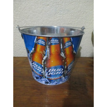 Cubeta Cerveza Bud Light. Metalica Nueva