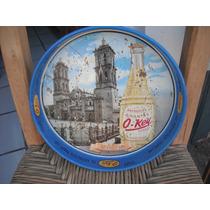 Charola De Refresco Okey Con La Catedral De Puebla 33cm Diam