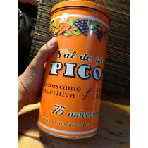 Antigua Lata De Sal De Uvas Picot Colección