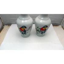 Antiguo Par De Jarrones Japoneses, Jv Imports De Porcelana.