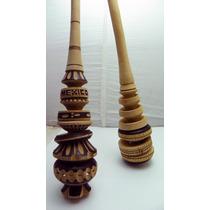 Molinillo Chocolatero Fabricado Con Madera Y Bonita Decoraci