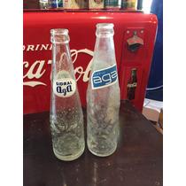 Par De Botellas De Refresco Sidral Aga Antiguas