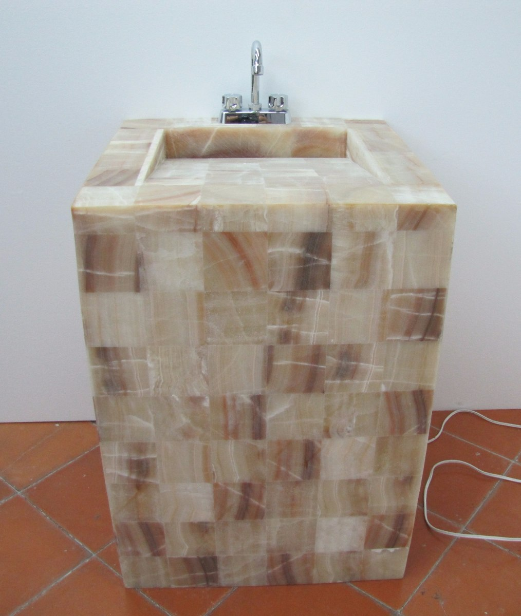 Iluminacion Para Baños Mercado Libre:lavabo de onix de 60 x 50 x 85 cmde alt con iluminación