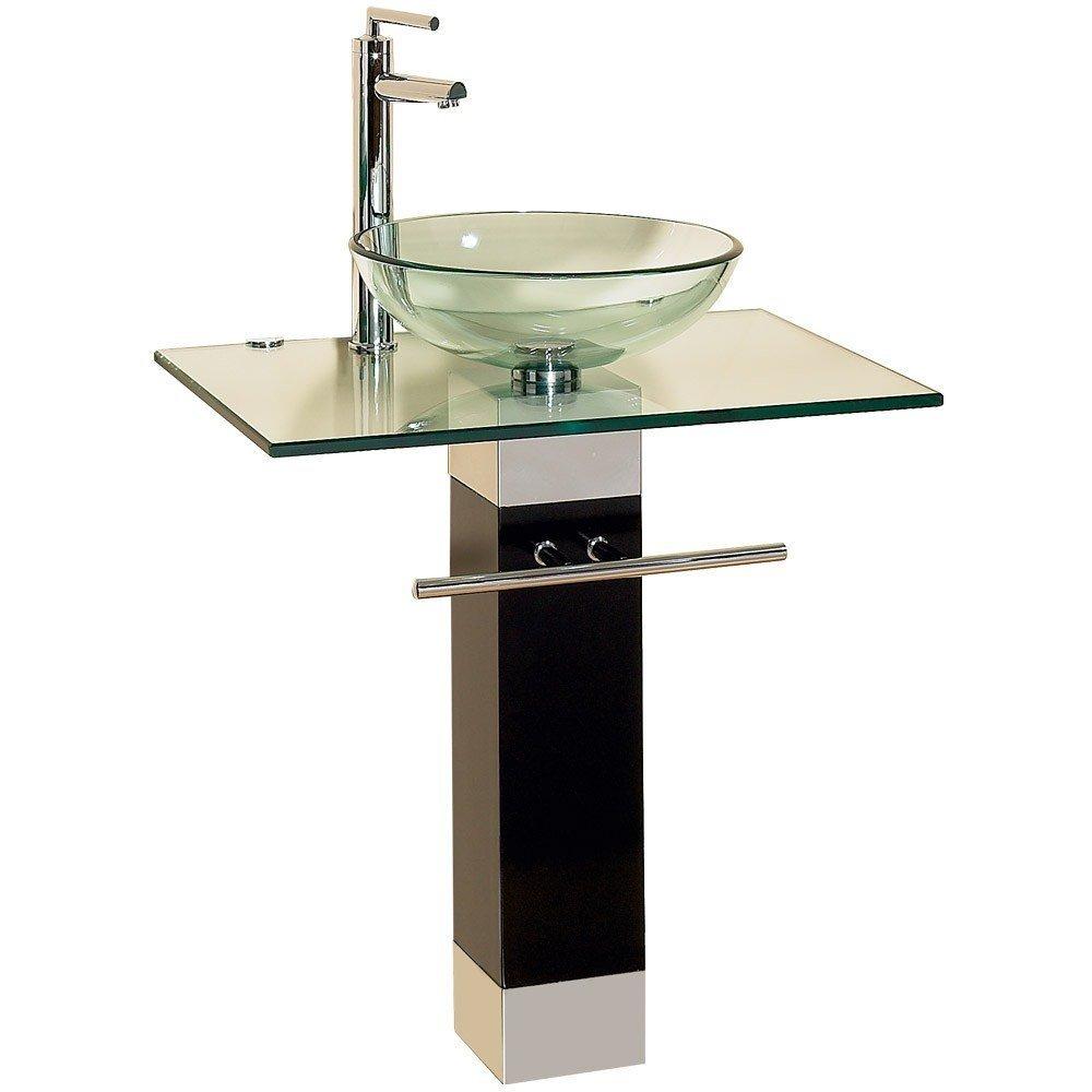 Lavabos Para Baños Cristal:Lavabo Para Baño Cristal Templado Contemporaneo Hm4 – $ 5,35900 en
