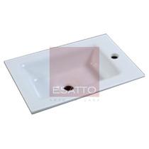 Esatto ® - Lavabo Ovalin Cubierta Vidrio Empotrar Ov-002