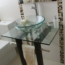 Mueble Con Lavabo Y Espejo De Cristal Modelo Vigo N038.tb