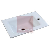 Esatto - Lavabo Ovalin Cubierta Vidrio Empotrar B02550