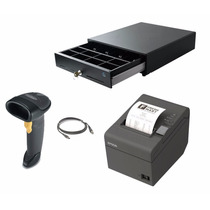 Kit Punto De Venta Lector + Cajon + Epson Tmt20 + Software