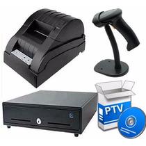 Kit Punto De Venta Impresora + Cajon + Lector + Software Pdv
