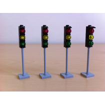 Lego Accesorios Lote Piezas Para 4 Semáforos City Creator