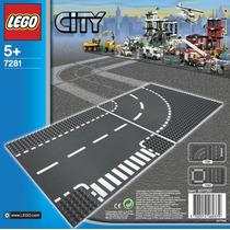 Lego City Road Plates Bases Para Calle T Y Curva 7281